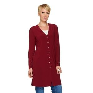 Susan Graver long liquid knit cardigan